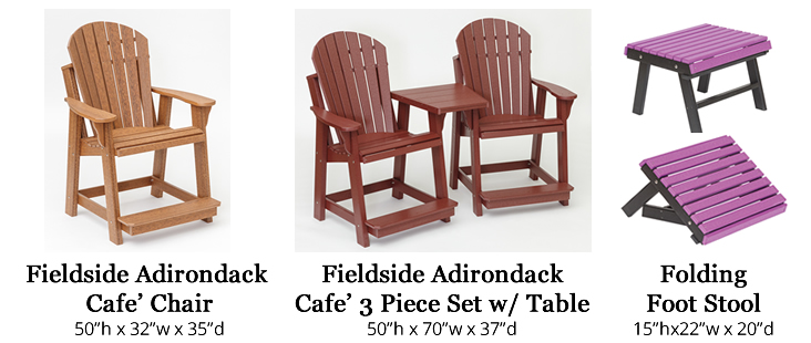 Fieldside Poly Adirondack Cafe Chairs