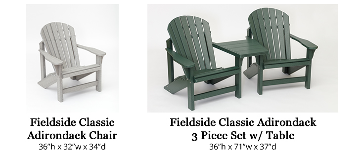 Fieldside Poly Classic Adirondack Chairs